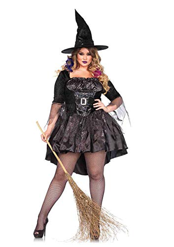 Cheap Plus Size Cop Halloween Costumes (Leg Avenue Women's Plus Size Black Magic Mistress, 3X/)