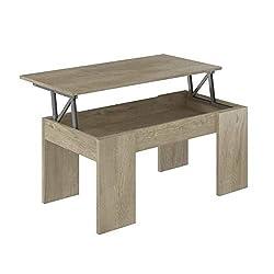 Movian -  Table basse avec plateau relevable Ağgӧl Modern, 50 x 100 x 44, Chêne