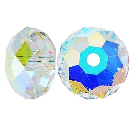 259e25d4c Amazon.com: SWAROVSKI ELEMENTS Crystal Rondelle Beads #5040 4mm Crystal AB  (12): Home & Kitchen