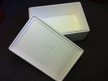 Caja para alimentos frescos, capacidad de 6 kg, poliestireno, 2 unidades: Amazon.es: Deportes y aire libre