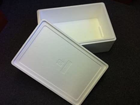 Caja para alimentos frescos, capacidad de 6 kg, poliestireno, 2 ...