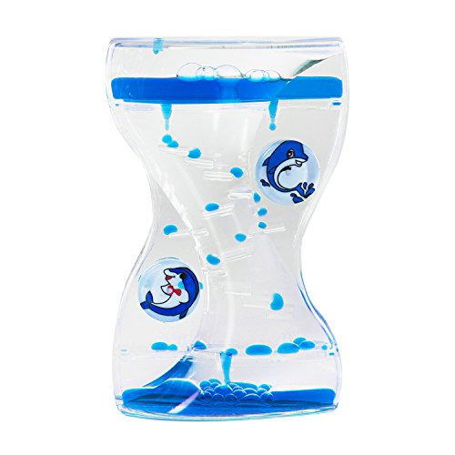 Colorful Liquid Motion Bubbler Desk Sensory Toy Timer Zig Zag Floating Rotating Circles for Play, Fidgeting, Captivating Distraction by Super Z Outlet - Dolphin Outlet