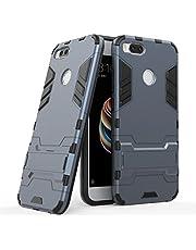 Ougger Fundas para Xiaomi Mi A1 (5X) Carcasa Cover, Protector Extrema Absorción de Impacto [Soporte de vídeo] Armor Cover Duro Plástico + Suave TPU Ligero Rubber 2in1 Back Gear Rear Negro