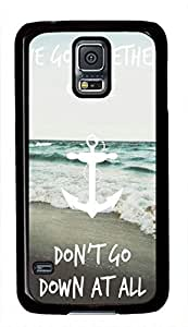 Beach Quote Anchor Theme Hard Back Cover Case For Samsung Galaxy S5 I9600 Case
