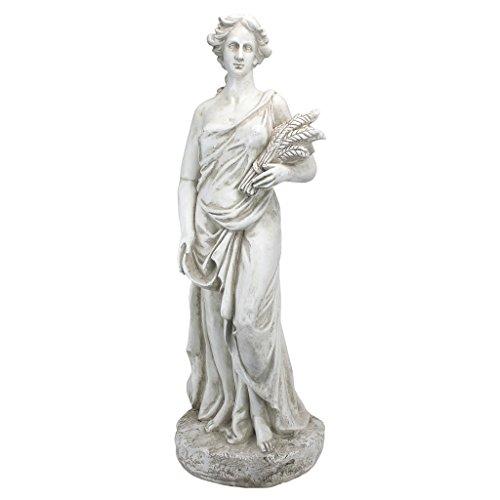 Design Toscano AL53273 Summer Goddess of The Four Seasons Statue, Ancient Ivory