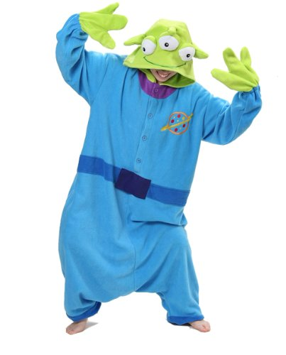 One Night Stand Adult Costumes (Little Green Man Kigurumi - Adult Costume)