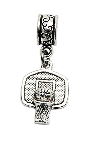J&M Dangle Basketball Shot Made Charm Bead for Charms Bracelets ()