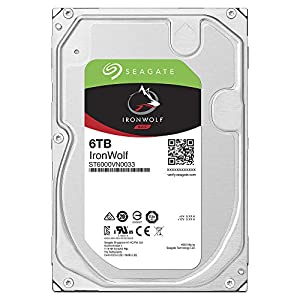 Seagate Ironwolf 6 TB NAS RAID Internal Hard Drive - 7,200 RPM SATA 6 Gb/s 3.5-inch - Frustration Free Packing…