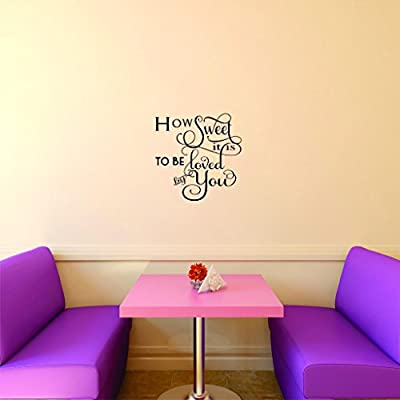 Design with Vinyl Moti 2727 4 Decal Peel /& Stick Wall Sticker Black Size 20 Inches x 20 Inches How Sweet It is to Be Loved by You Quote Color