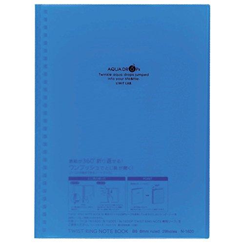 Lihit Lab Aqua Drops - Lihit Lab., Inc. twist ring notebook Aqua Drops N1620-8 blue