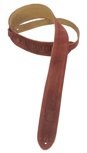 """Levy's Leathers 2"""" Suede Guitar Strap with Suede Backing - Adjustable from 36"""" to 52""""; Burgundy (MS12-BRG)"""
