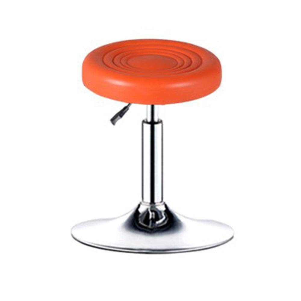orange Bar Chair Simple Backrest Lifting Beauty Chair High Stool Bar Stool Home Stool Swivel Chair 5 colors 1 Size (color   orange)