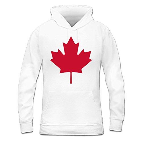 Sudadera con capucha de mujer Canada Leaf by Shirtcity Blanco