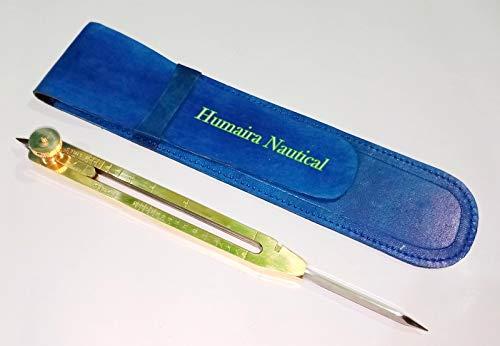 Humaira Nauticals - Herramienta de Manualidades de latón Envejecido DE 22,8 cm, Divisor proporcional, Instrumento...