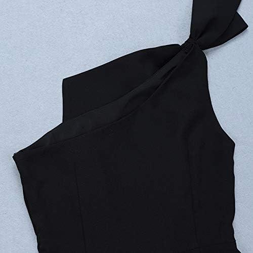 Black Marcy Bow On Shoulder Romper//Jumpsuit