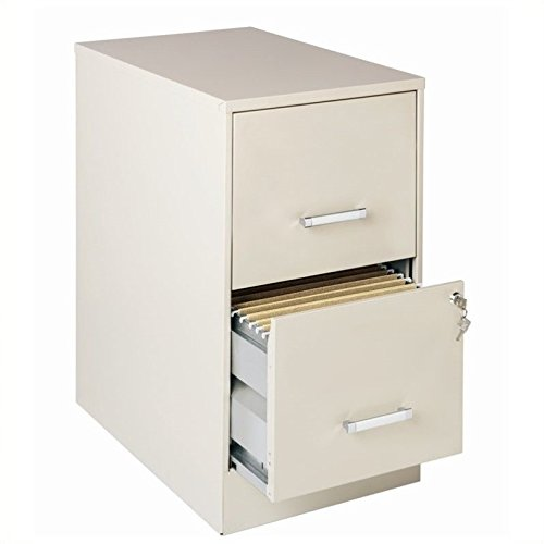 Lorell 16870 2-Drawer Mobile File Cabinet, 22-Inch ()