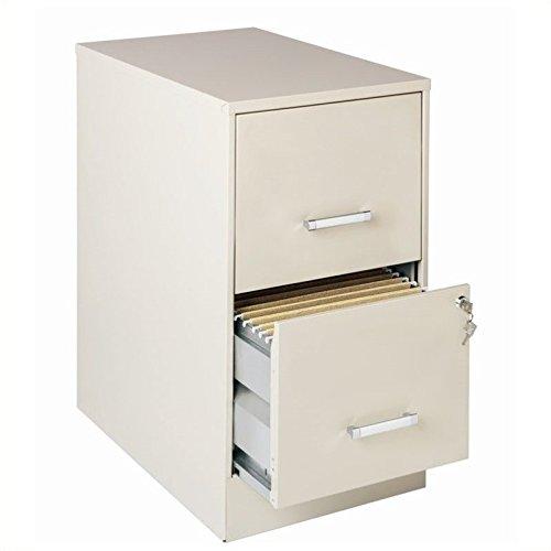 Lorell 16870 2-Drawer Mobile File Cabinet, 22-Inch - Locking Center Drawer