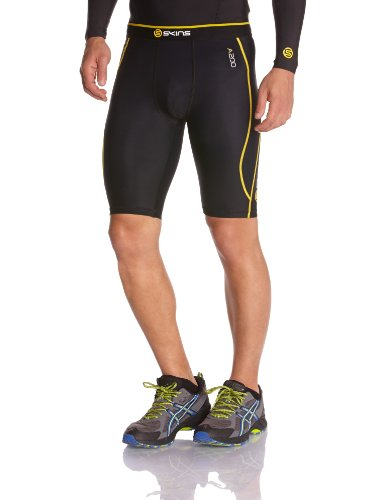 Skins A200 Men's Compression Half Tights, Extra Small, ()