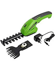 WORKPRO 7.2V 2-in-1 Cordless Grass Shear & Hedge Trimmer with 1500mAh Lithium-Ion Battery and 2 Attachment Blades for Gardening, Cutting, Trimming, Shearing, Pruning and Thinning Plants and Foliage