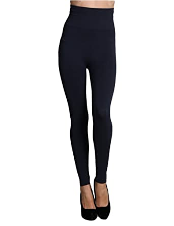 b36606320b16a1 Image Unavailable. Image not available for. Color: Tummy Tuck High Waist  Leggings Ink