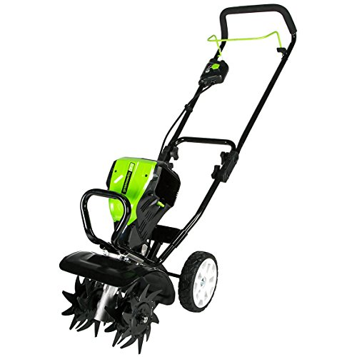 Greenworks 10-Inch 80V Cordless Tiller Cultivator, Battery and Charger Not Included in USA