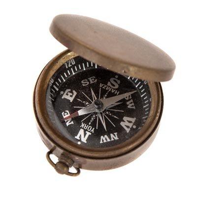 Sprinklesギフト真鍮ポケットノベルティホームインテリアコンパスブラック面Antique Reproduction Nautical Navigational Pirates B07436W8KR
