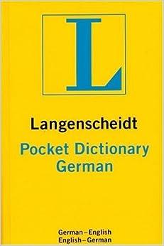 Langenscheidt's Pocket Dictionary German: German-English/English-German (Langenscheidt's Pocket Dictionaries) by Langenscheidt (2001-05-31)