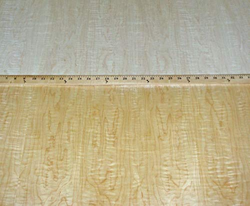 Curly Figured Maple wood veneer 48