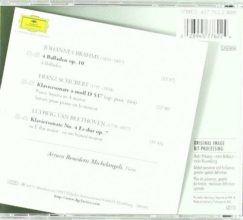 Brahms, Schubert, Beethoven / Arturo Benedetti Michelangeli by Dg Imports