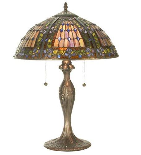 Meyda Tiffany 81447 Fleur De Lis Table Lamp 22 5 Height Tiffany