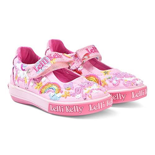 (Lelli Kelly LK9050 Pink Fantasy Unicorn Dolly Shoes, Size US 11 / EU 29 )