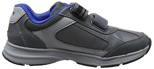 Geox J Top Fly B, Zapatillas Para Niños Gris (Dk Grey)