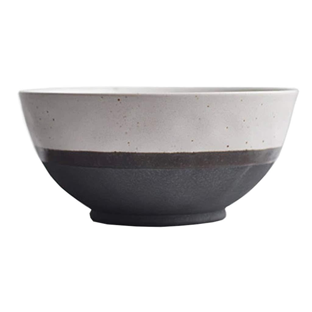 Restaurant Vintage Ceramic Breakfast Bowl Cereal Bowl Rice Bowl Noodle Bowl Soup Bowl Salad Bowl 18cm