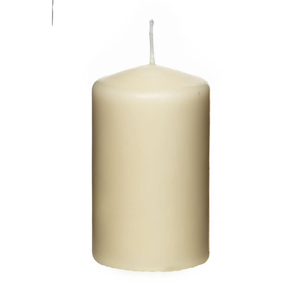 D'light Online 2x4.5 inch Bulk Event Pack Unscented Round Pillar Candles Qty 36 (2 x 4.5, Ivory)