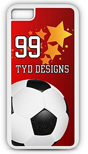 - iPhone 8 Plus 8+ Case Create Your Own Soccer Direct Free Kick Player Number Name Team Name Customizable TYD Designs in White Plastic
