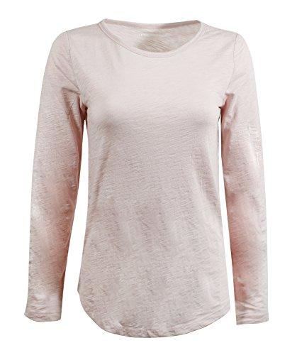 Gap Pink Shirt - GAP Women's Long Sleeve Crewneck T-Shirt (S, Light Pink)