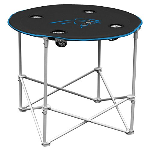 Carolina Panters  Collapsible Round Table with 4 Cup Holders and Carry - Panter.com