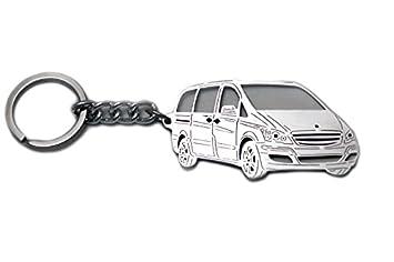 Llavero de acero inoxidable adecuado para Mercedes-Benz Vito ...
