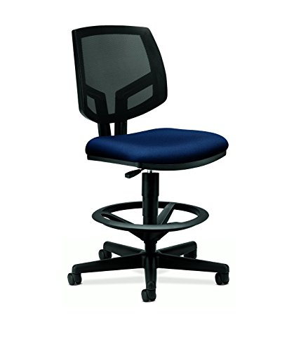 Hon Volt Mesh Back Task Stool  Upholstered Adjustable Office Stool   Navy  H5715
