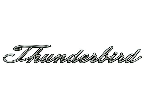 New 1965-67 Ford Thunderbird Ornament Nameplate Script Rear Quarter Panel Emblem (C5SZ-6325622)