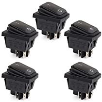 ON//Off 2 Position SPST Metal Auto Rocker Switch FULARR 8Pcs Professional Car Toggle Switch 10A 125VAC // 6A 250VAC for Car Auto Truck Boat 2 Pin Rocker Toggle Switch