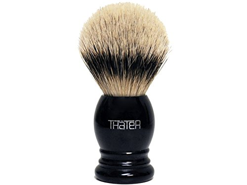 Thater 4292/3 Silvertip Shaving Brush with Black Handle by Thater