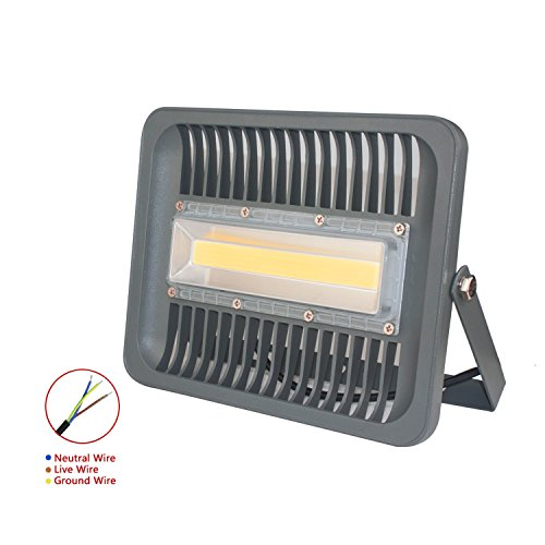 ASIGN 100W LED Outdoor COB Flood Lights, Warm White Security Light 10000lm 500W Halogen Bulb Equivalent 3000K Soft White IP66 Waterproof Outdoor Wall Lamp for Garage Backyard Gate Driveway, etc. Review