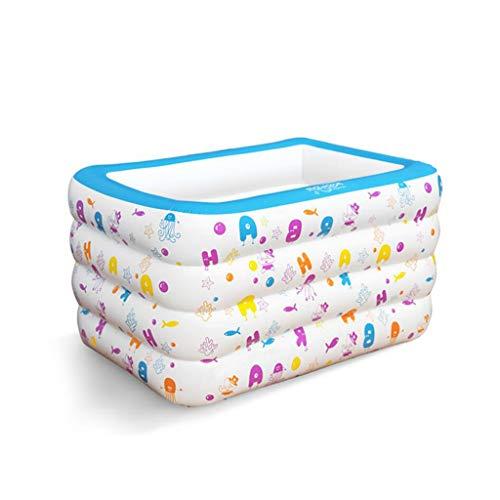 HQCC Piscina para niños Inflable de Gran tamaño Inflable Engrosamiento niños Piscina Cilindro 140 * 100 * 75 (Color :...