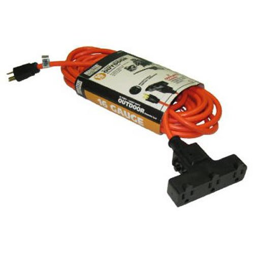 Alert Stamping Master Electrician CST-100A 100-Feet 16/3 SJTW-A Outdoor Extension Cord, Orange