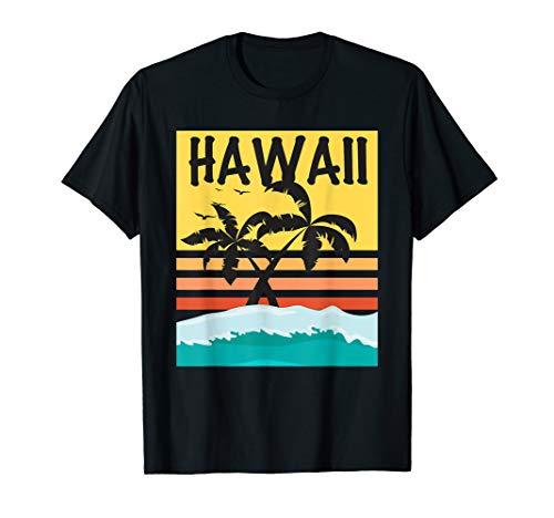 Hawaii Palm Tree Tropical Beach Island Surf Picture T Shirt -