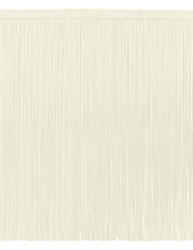 DecoPro 11 Yard Value Pack of 12 Inch Chainette Fringe Trim, Style# CF12 Color: Ivory (Off White) - OW (32.5 Feet / 10M)