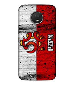 ColorKing Football Poland 11 Multicolor shell case cover for Motorola Moto E4 Plus