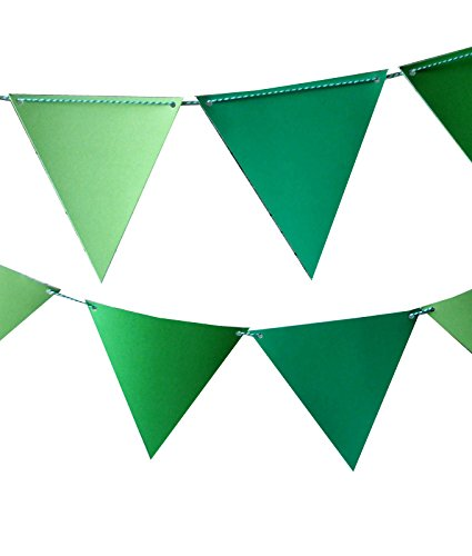 Green Banner (Quasimoon Green Ombre Triangle Pennant Banner by PaperLanternStore)