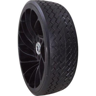 Marathon Tires Flat-Free Plastic Flex Wheel with Rubber Tread - 5/8in. Bore, 4.10/3.50-4in. (Treads Plastic)
